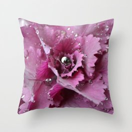 silver and pink  Throw Pillow
