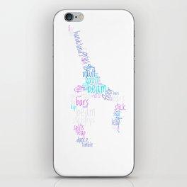 Word Cloud Gymnast iPhone Skin