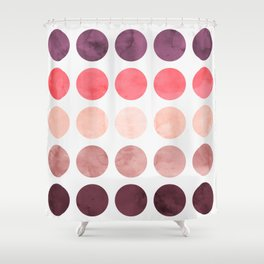 Colorful watercolor circles II Shower Curtain