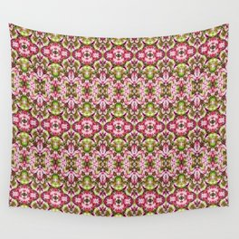 Delicate Floral Stripes Wall Tapestry