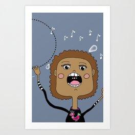 Le chanteur Art Print