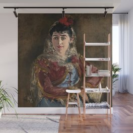 """Édouard Manet """"Portrait of Émilie Ambre as Carmen"""" Wall Mural"""