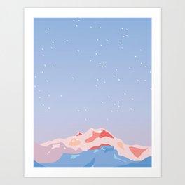 Mt Garibaldi Sky Art Print