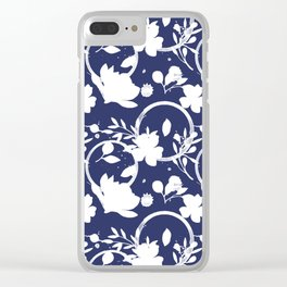 Blue And White Pattern No. 1 Clear iPhone Case
