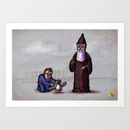 Gwydion and Manannan Art Print