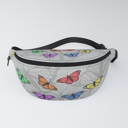 Rainbow butterflies Fanny Pack