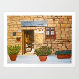 La Cerchia Enoteca, Monteriggioni Art Print