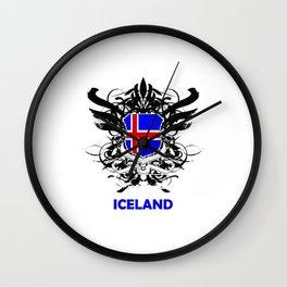 Iceland Uefa Euro 2016 Wall Clock
