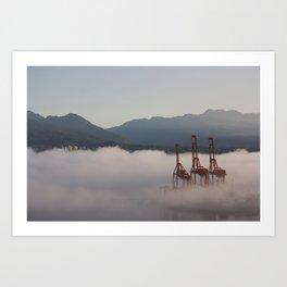 Burrard Inlet Fog Art Print