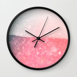 Ombre Mountain Wall Clock