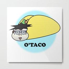 Otaku Anime Taco Metal Print