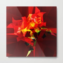 red polygone object Metal Print
