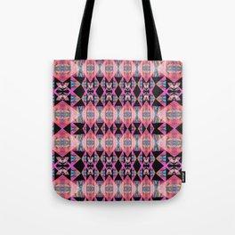 Diamond Geometric Power Pattern in Broad Spectrum Pink Tote Bag