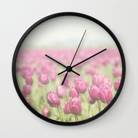 tulip Wall Clocks featuring Tulip by Pure Nature Photos