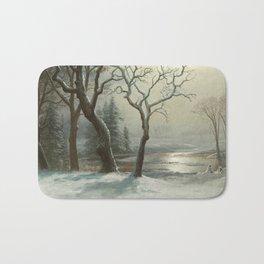 Albert Bierstadt - Winter in Yosemite Bath Mat