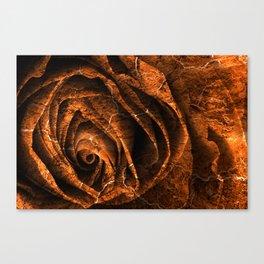 Burning Grunge Rose Canvas Print