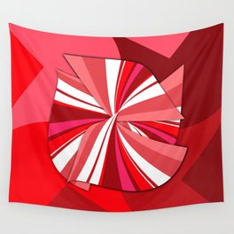 striped red bow Wall Tapestry