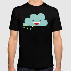 The Happy Love Rain Cloud Black Mens Fitted Tee 2X-LARGE