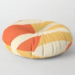 GEOMETRY ORANGE I Floor Pillow