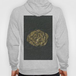Golden Rose on Textured Canvas Hoody