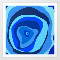 geode Art Prints featuring Geode by Sarah P