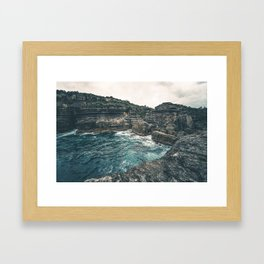 Awesome sea cliffs Framed Art Print
