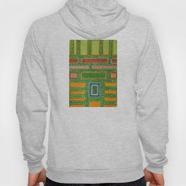 Filled Rectangles on Green Dotted Wall Hoody