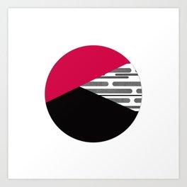 Patchwork , circle Art Print