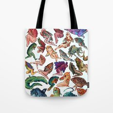 Reverse Mermaids Tote Bag
