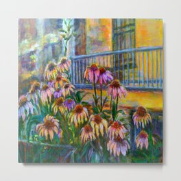 Coneflowers at Dusk by Marianne Fadden Metal Print