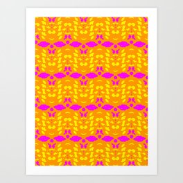 Kaleidoscope Leopard Stripe Art Print