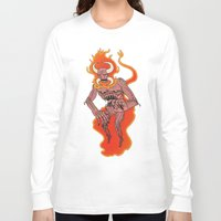 demon Long Sleeve T-shirts featuring Demon by Justin McElroy