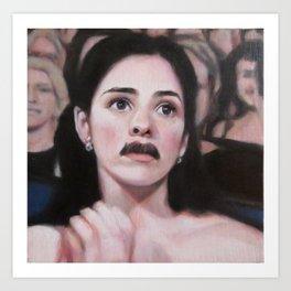 Portrait of Sarah Silverman Art Print