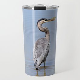 Great Blue Heron Fishing - I Travel Mug