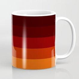 Orange Ombre Stripes Coffee Mug