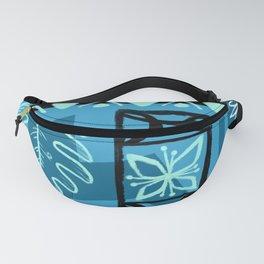 Hawaiian Pattern #1 - aqua! Fanny Pack