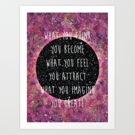 Law of Attraction Art Print