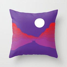 Amethyst Ravine Throw Pillow