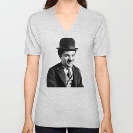 Charlie Chaplin Old Hollywood Unisex V-Neck