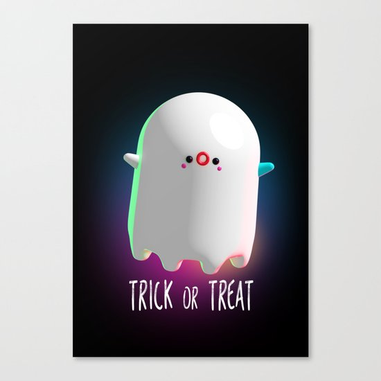 Spooky Ghost Canvas Print