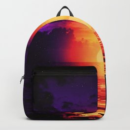 Fire purple cloud by #Bizzartino Backpack