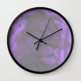 Lion Purple & Gray Wall Clock