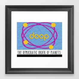 The Democratic Order of Planets / Futurama Framed Art Print