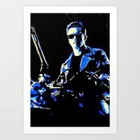 terminator Art Prints featuring Terminator  by Pop Artist