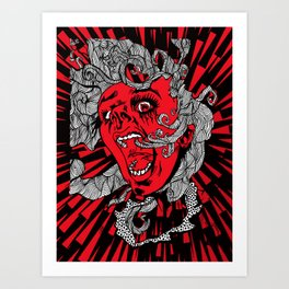 Living Dead Girl.  Art Print