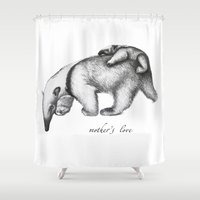 soul eater Shower Curtains featuring ant-eater by Кaterina Кalinich