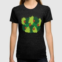Green Leaves And Ladybugs In Spring T-shirt