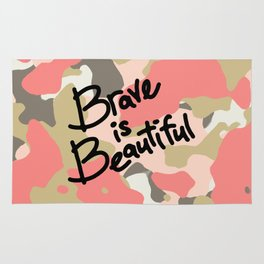 Brave is Beautiful Rug