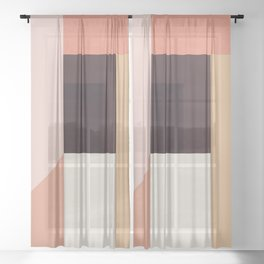 Abstraction_Colorblocks_001 Sheer Curtain