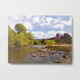 Oak Creek and the Cathedral Rocks Metal Print